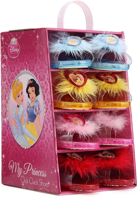 Disney I-9915 - Juego de 4 Pares de Zapatos de tacón para Disfraz Infantil de Princesa: Amazon.es: Juguetes y juegos