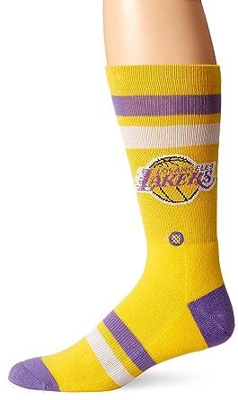 9314bb13dc0d Amazon.com  Stance Men s Lakers Crew Sock