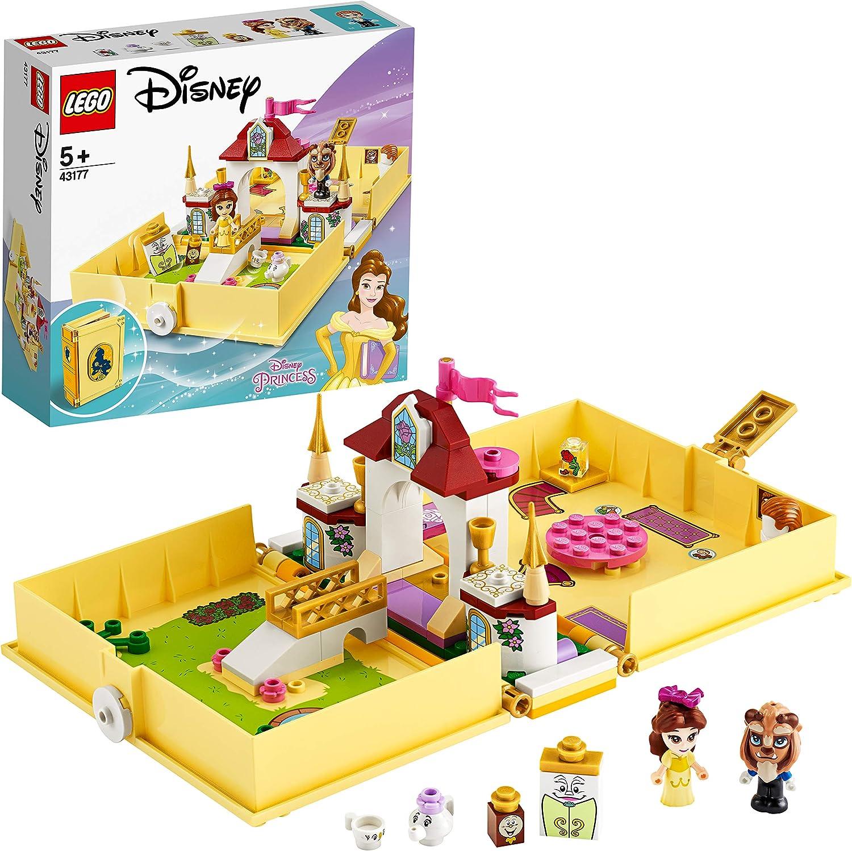 LEGO Disney Princess - Cuentos e Historias: Bella, Set de Construcción, Libro de Juguete de la Película La Bella y La Bestia, Incluye a la Señora Potts, Chip, Din-Don y Armario, desde 5 Años (43177)