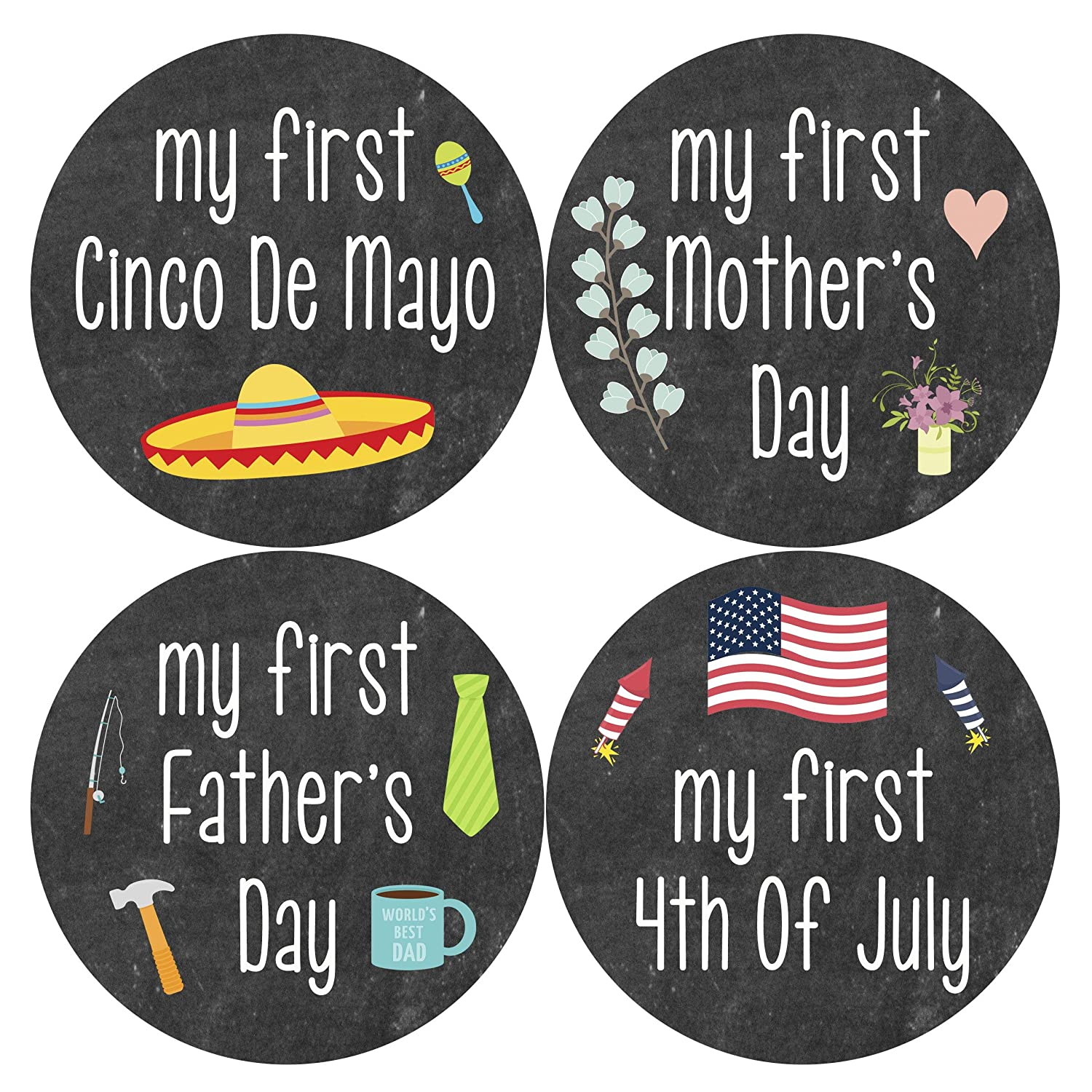 Halloween Decor Stickers Fathers Day Gift  First Birthday Holiday Gift Baby Mothers Day Milestone Stickers Baby/'s First Christmas