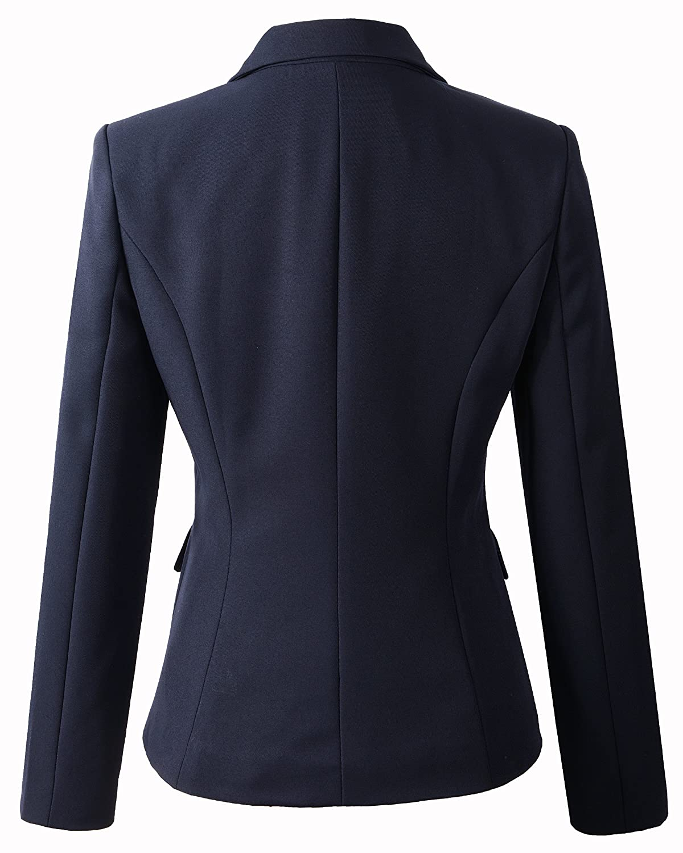 Beninos Womens Formal 2 Button Blazer Jacket