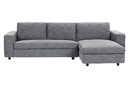 Sunpan Modern Ethan Sofa Chaise, Quarry Fabric