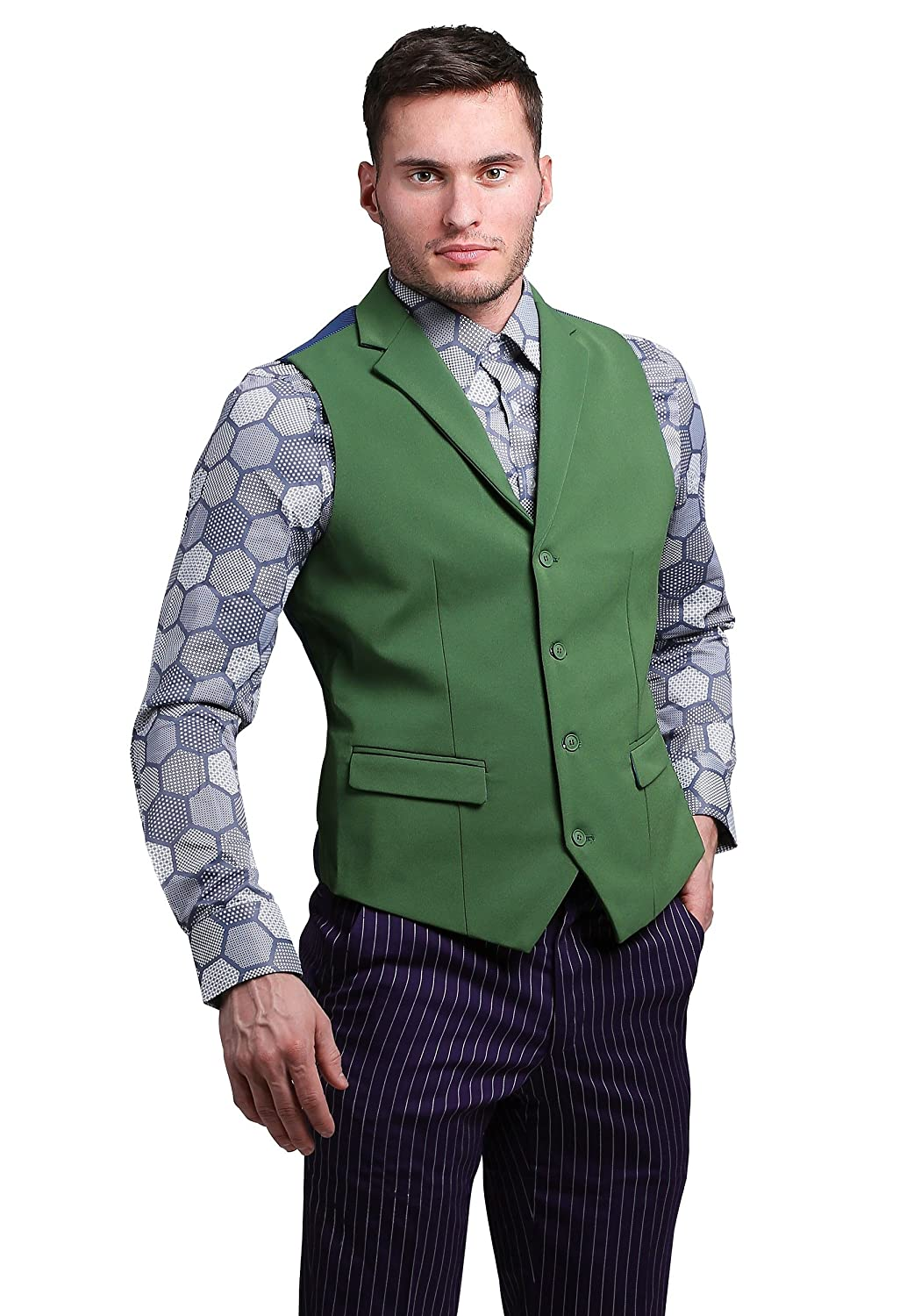 FUNSUITS mens THE JOKER Suit Vest (Authentic) Medium