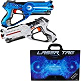Dynasty Laser Tag Set for Kids, Battle Pack (2 Blasters) - with Collectible Storage Case
