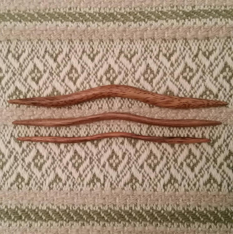 East Indian Walnut Cable Needles GrammasKnittedGifts 852675805981