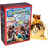 Under the Big Top Expansion No. 10 for Carcassonne Game_ Bonus Gold Metallic Cloth Drawstring Pouch _ Bundled Items