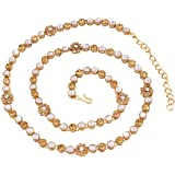 I Jewels Traditional Gold Plated Kundan & Stone Studded Kamarband for Women B017