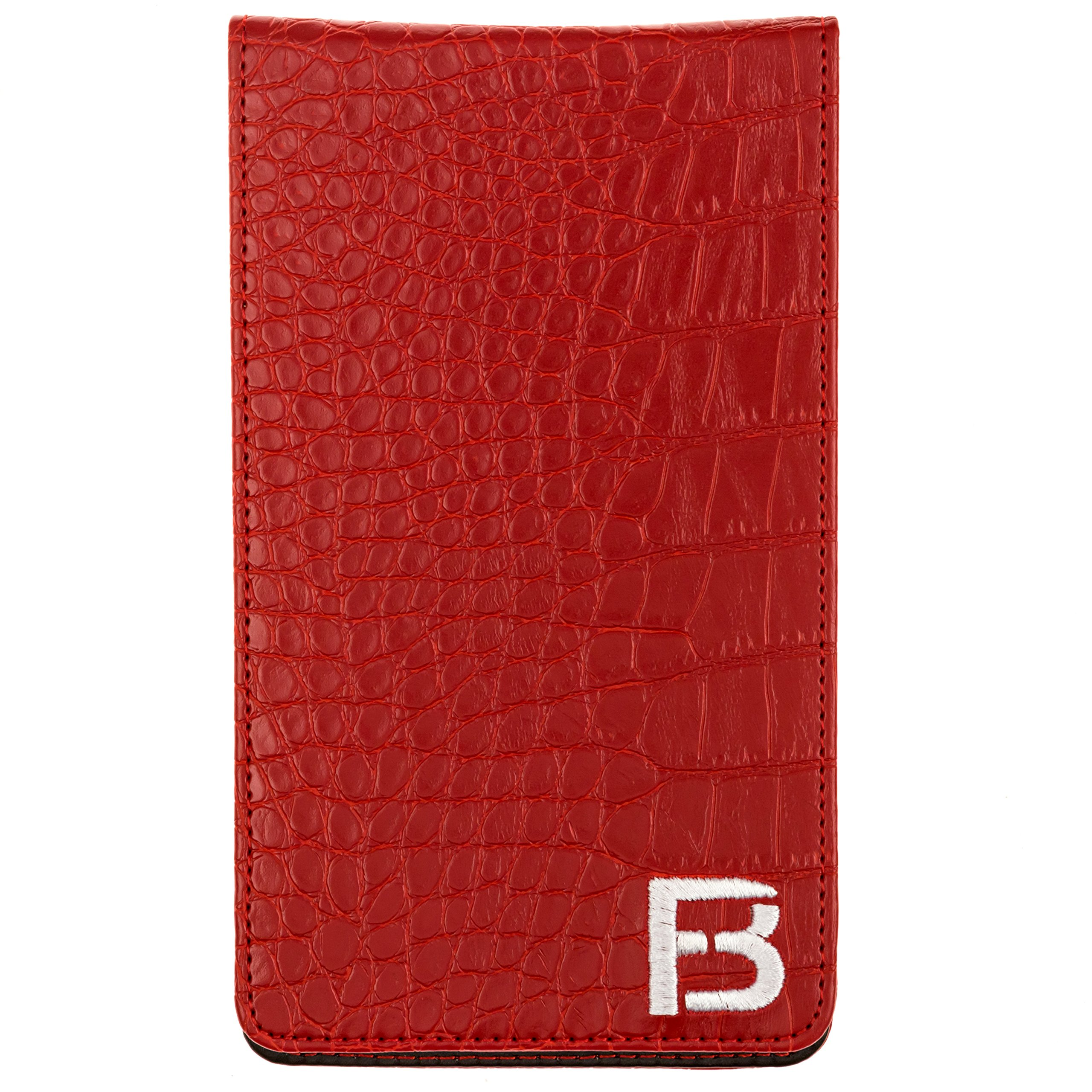 Fuzzy Bunkers Golf Scorecard Holder and Yardage Book Cover PLUS Free Golf Pencil and Downloadable PDF Stat Tracker Sheet by (Red) by VEBE (Image #5)