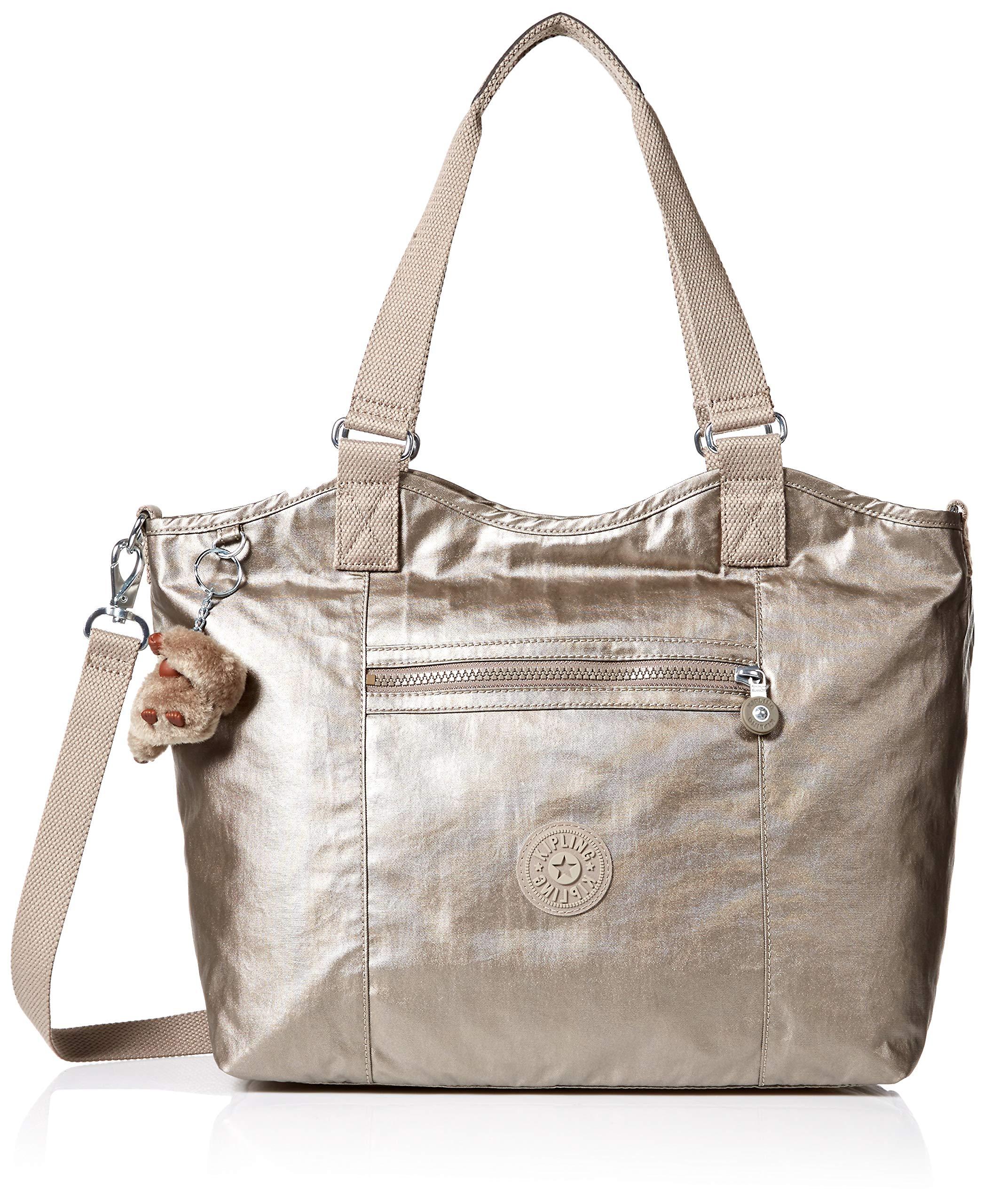 Kipling Griffin Tote Bag,  Metallic Pewter, One Size