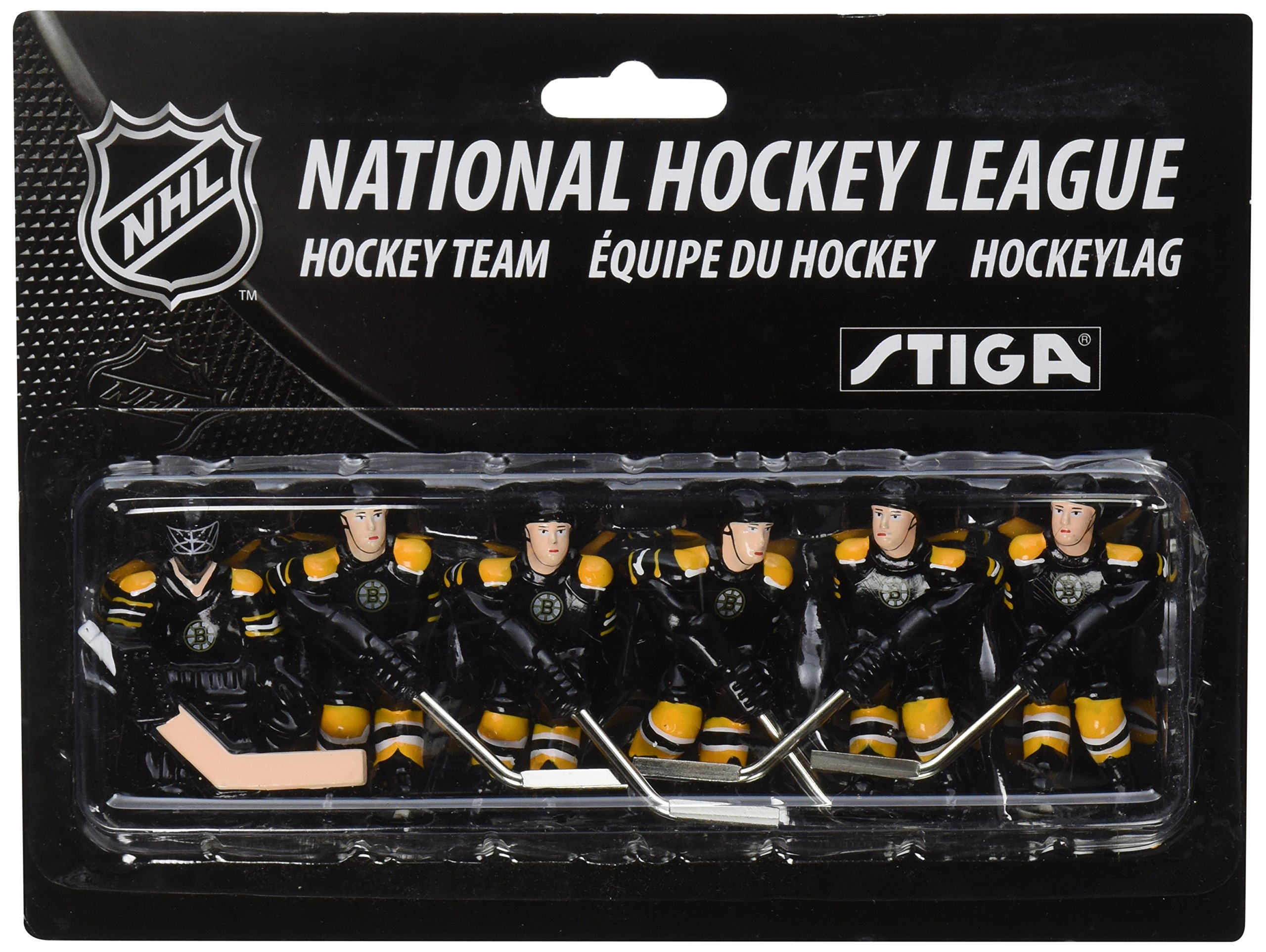 NHL Boston Bruins Table Top Hockey Game Players Team Pack by STIGA