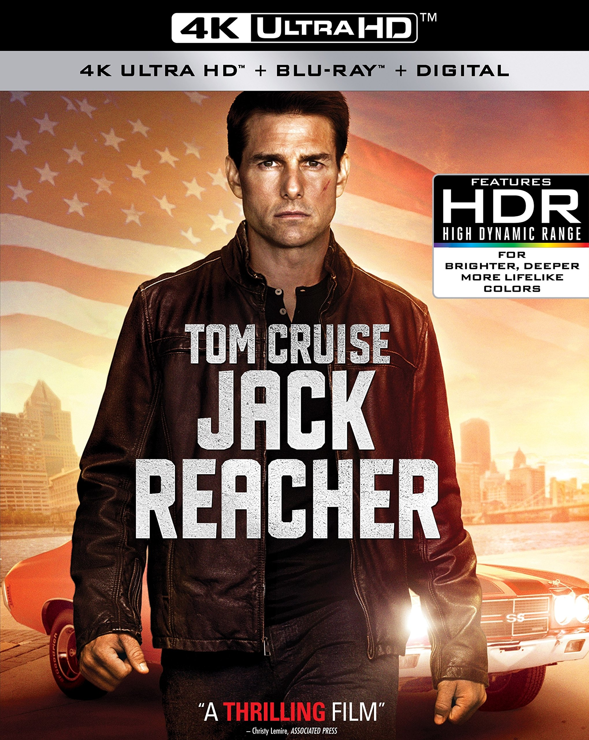 4K Blu-ray : Jack Reacher (With Blu-Ray, 4K Mastering, O-Card Packaging, Widescreen, Digital Theater System)