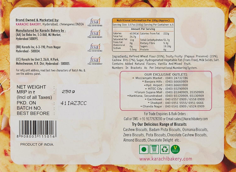 Karachi Bakery Fruit Biscuits, 250g: Amazon in: Grocery