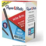 Paper Mate Write Bros Ballpoint Pens, Medium Point (1.0mm), Black, 60 Count (Packaging and product may vary slightly)