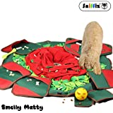 SNiFFiz SmellyMatty Dog Food Puzzle Snuffle Mat - Large Nosework Blanket + 5 Interactive Brain Teaser Treat Dispenser for Foraging Instinct, Indoor Boredom Stress Relief - Tricky IQ Feeding Game Toys