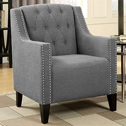 Fine Amazon Com A Line Furniture Contemporary Button Tufted Andrewgaddart Wooden Chair Designs For Living Room Andrewgaddartcom