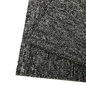 uyoyous Carpet Tile 20x20 inch 28pcs Commercial Carpet Floor Tiles 77.8sqft PVC Backed Waterproof Carpet Squares Adhesive Stickers Non Slip Moisture-Proof for Residential & Commercial Flooring Use
