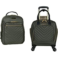 """Kenneth Cole Reaction Women's Chelsea 2-Piece 17"""" 4-Wheel Spinner Underseater Carry-On & Matching 15"""" Laptop Backpack…"""