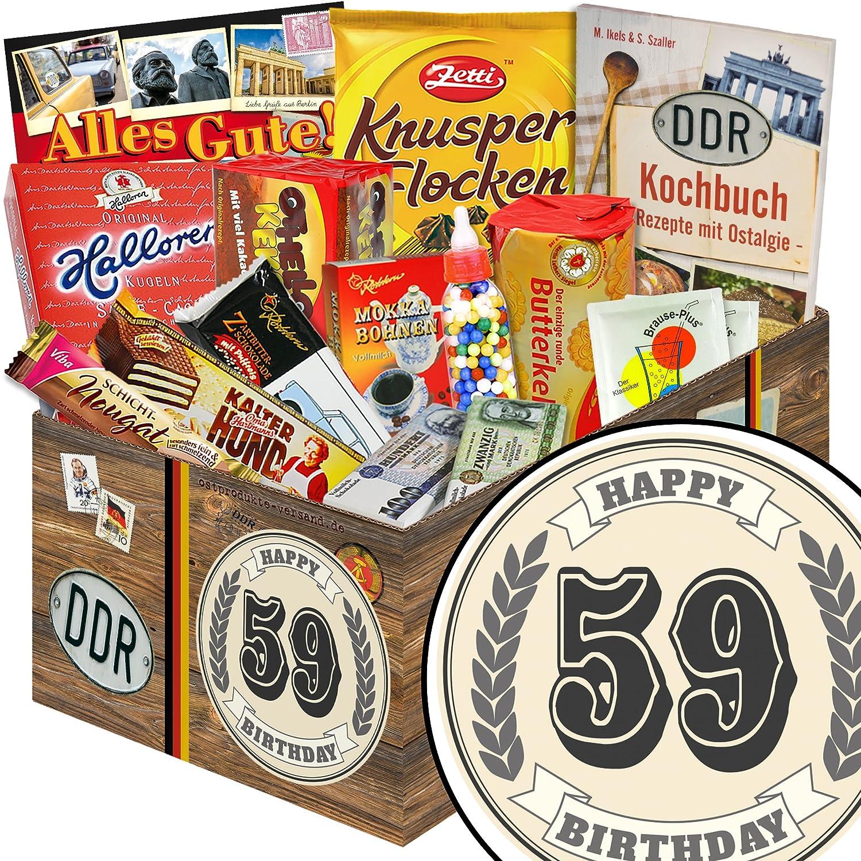 Geschenk Idee zum 59. Geburtstag | Süßigkeiten Geschenk Frauen | Ost ...