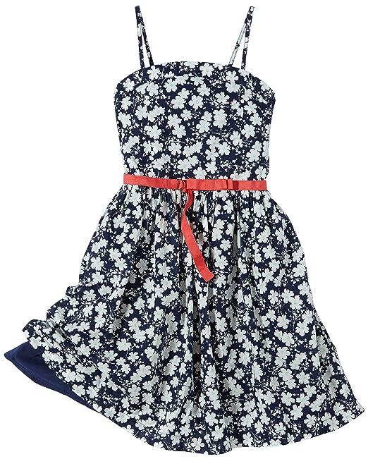 Tommy Hilfiger Marina Flower - Vestido sin mangas para niña, talla 16 años (170
