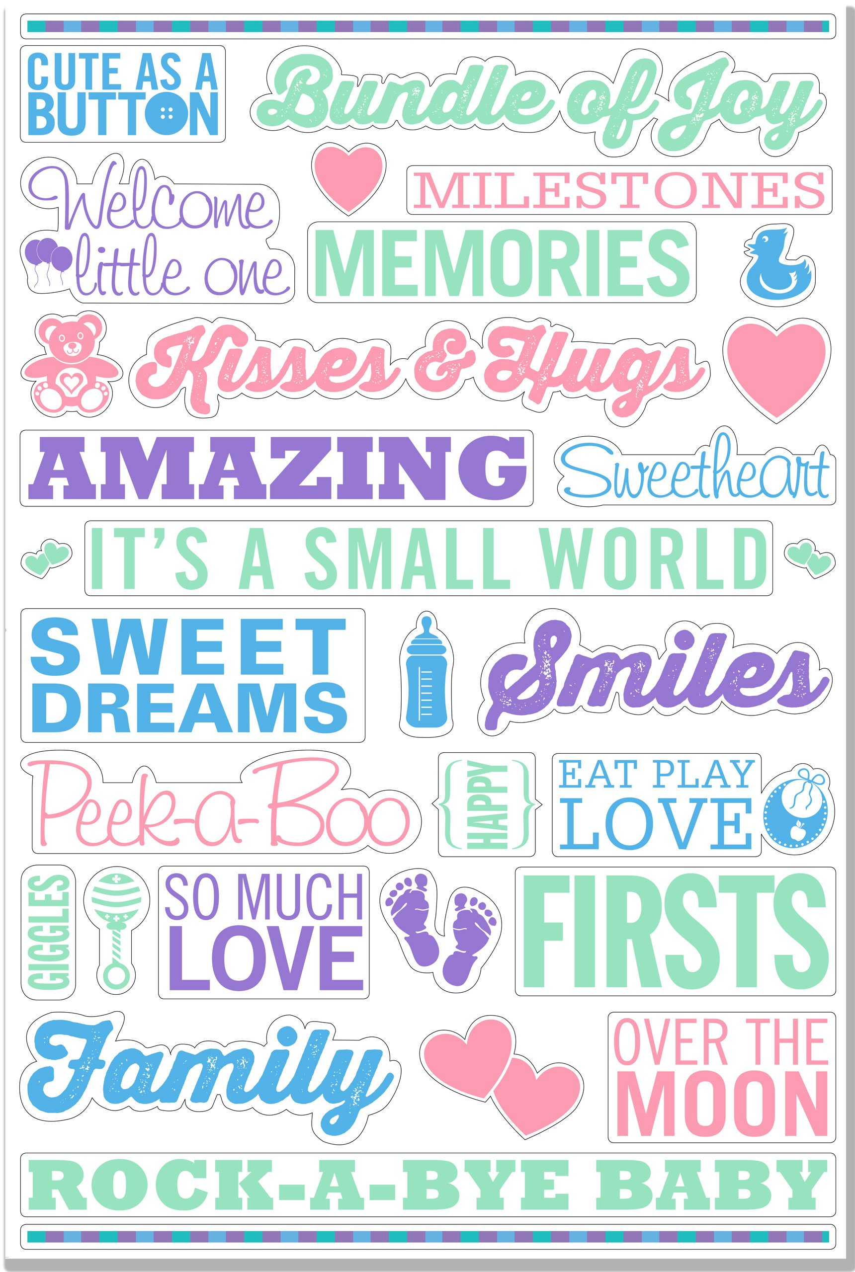 Download Baby's Room Peel & Stick Wall Decal Set (32 removable vinyl wall decals) ebook