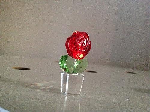 Swarovski Crystal Figurine, Red Rose , 855896