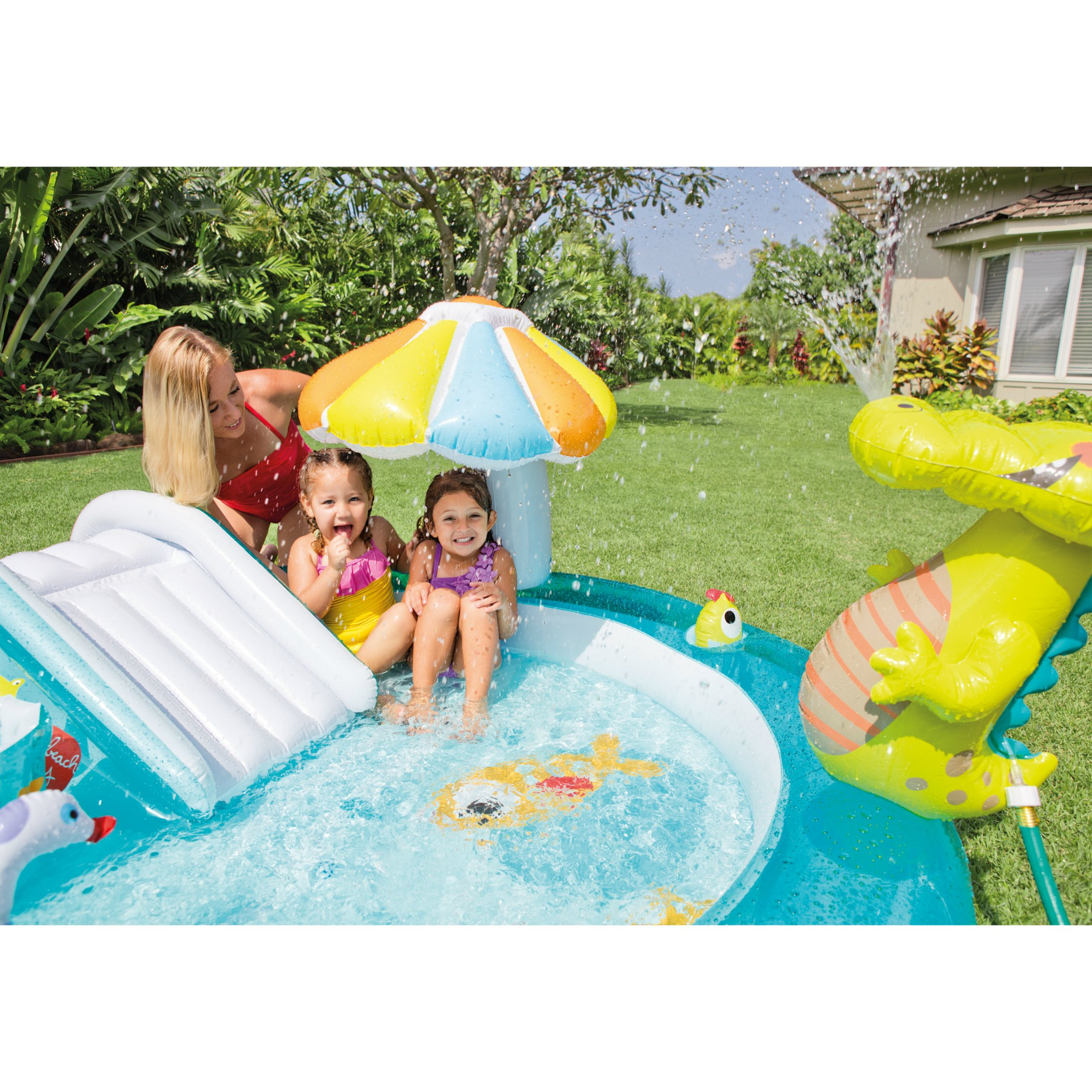 Intex Gator Inflatable Play Center, 80'' X 68'' X 35'', for Ages 2+ by Intex (Image #3)