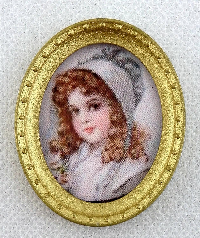 2019年激安 Accessoires Poupées Pour Maison De Poupées Doré Miniature Jeune Cadre Fille Portrait Image dans Ovale Cadre Doré A B01CYEGM56, ラファイエット:52aab059 --- diceanalytics.pk