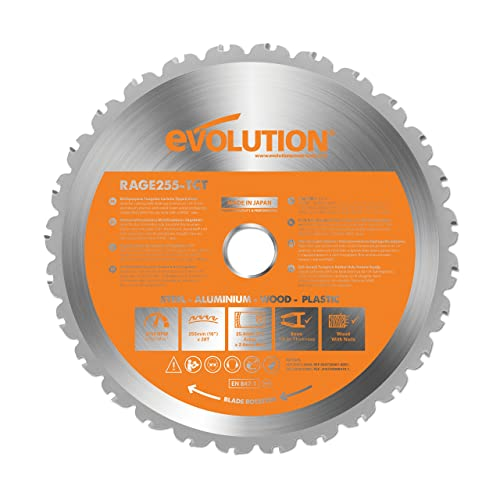 Evolution rage multi purpose carbide tipped blade 255 mm amazon evolution rage multi purpose carbide tipped blade 255 mm greentooth Choice Image