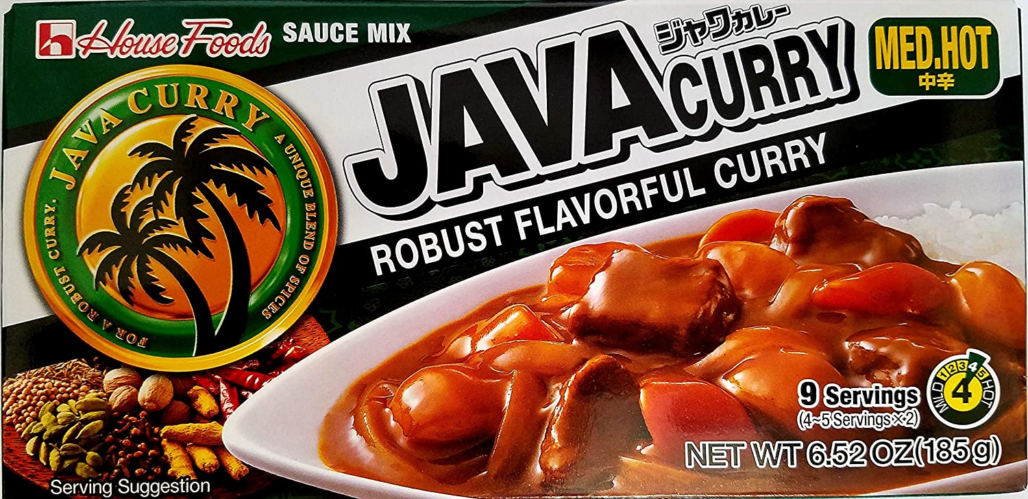 House Foods Java Curry Sauce Mix Med. Hot 185g