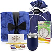 Get Well Soon Gift Basket - Get Well Gifts Care Package Includes Luxury Blanket Wellness Tea with Honey Insulated Mug…