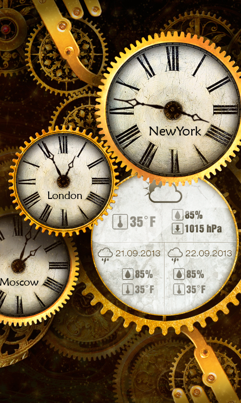 Amazon Gold Clock Live Wallpaper PRO Appstore For Android