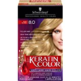 Schwarzkopf Keratin Color Anti-Age Hair Color Kit, 8.0 Silky Blonde (Pack of 2)