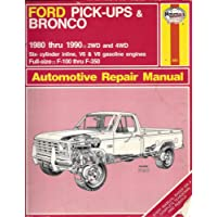Ford Pick-ups and Bronco 2 and 4 W.D. 1980-90 Owner's Workshop Manual