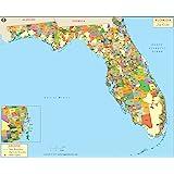 Zip Codes South Florida Map.Amazon Com South Florida Zip Codes Map Laminated 36 W X 45 19