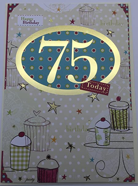 75th birthday birthday greetings card by carte blanche amazon 75th birthday birthday greetings card by carte blanche m4hsunfo
