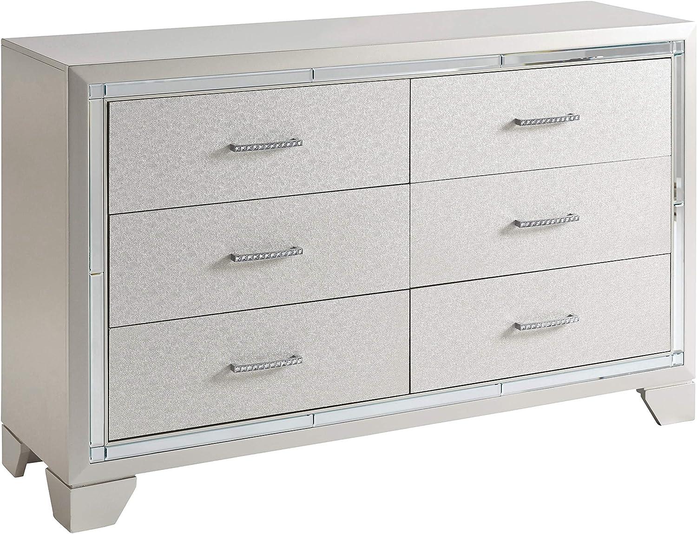 Signature Design By Ashley - Lonnix Dresser - Silver Finish