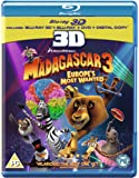 Madagascar 3: Europe's Most Wanted (Blu-ray 3D + Blu-ray + DVD + Digital Copy) [Region Free]