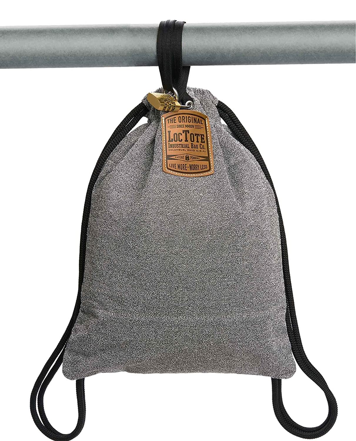 6b114a664828 LOCTOTE Flak Sack - The Original Theft-Resistant Drawstring Backpack |  Anti-theft | Theft-Proof Travel Backpack | Lockable | Slash-Resistant
