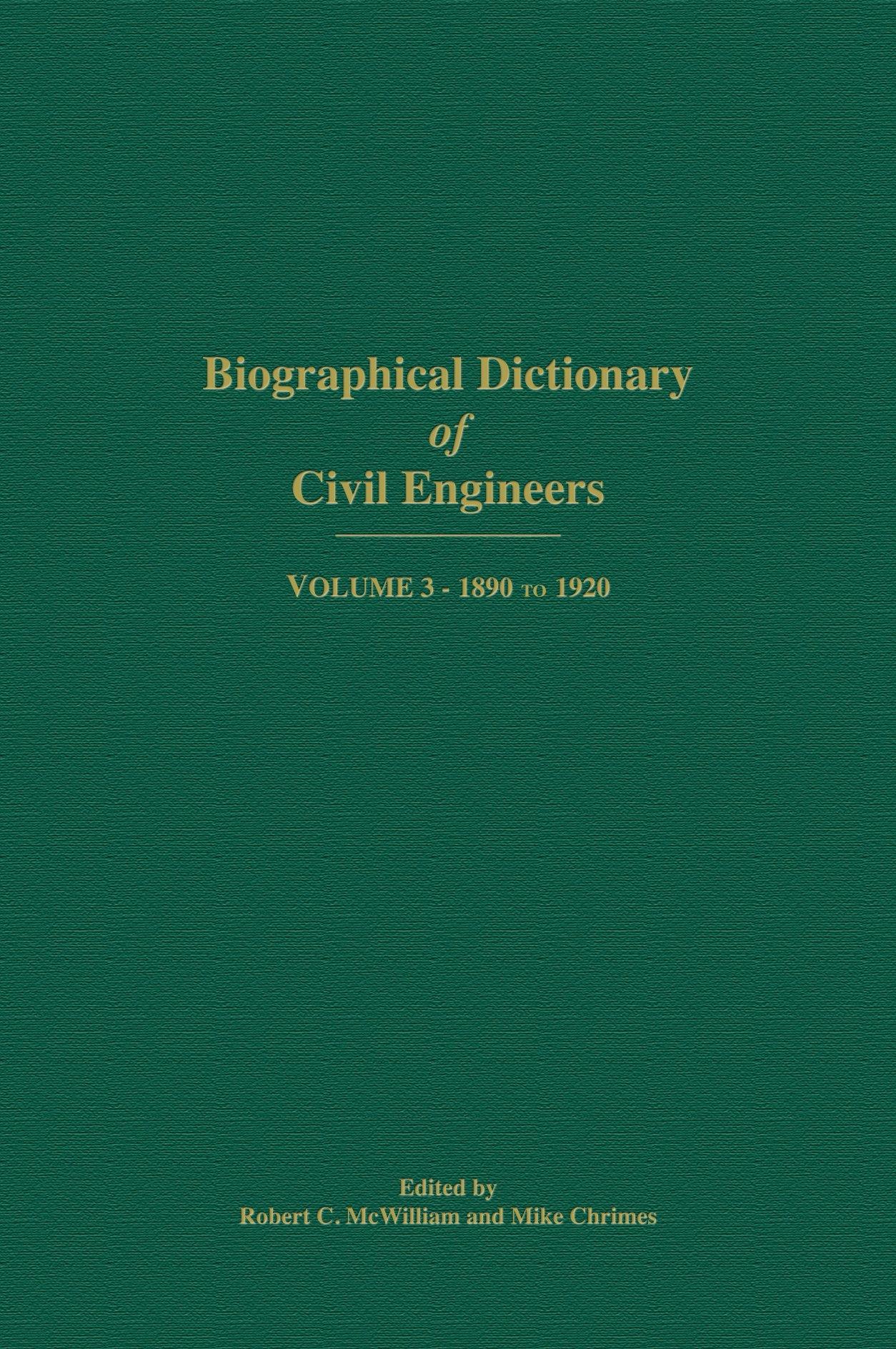 Biographical Dictionary of Railway Engineers
