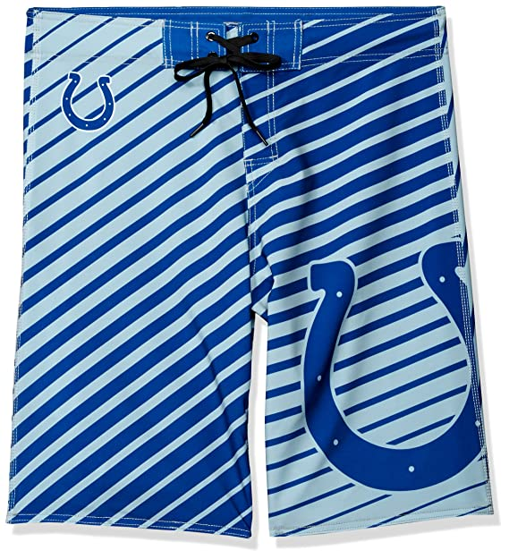 6d03f464 FOCO NFL Men's Stripes Poly Board Shorts