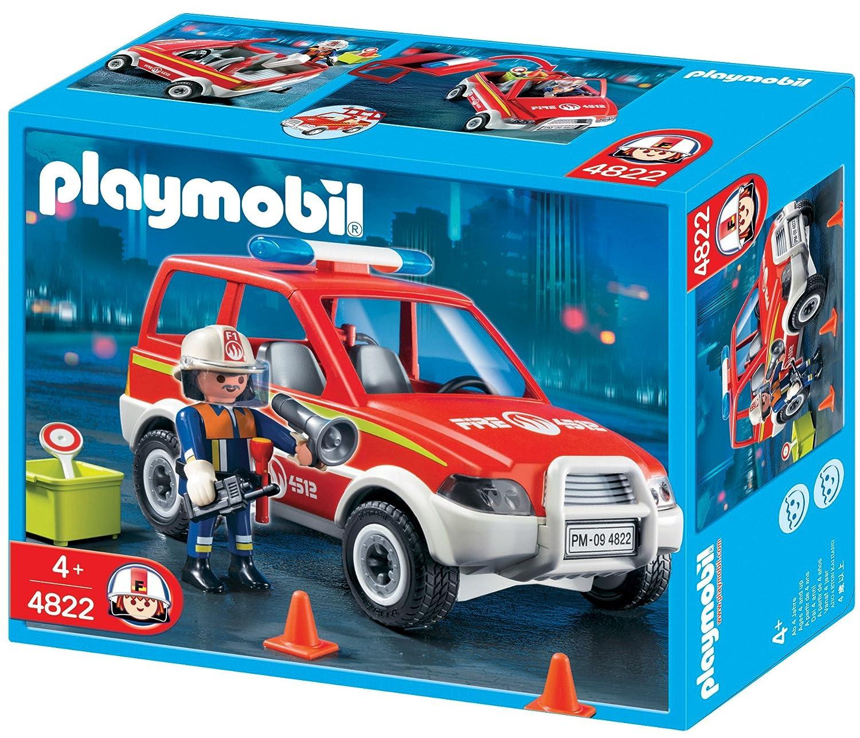 playmobil 4822 jeu de construction voiture de pompier amazonfr jeux et jouets - Playmobil Pompier