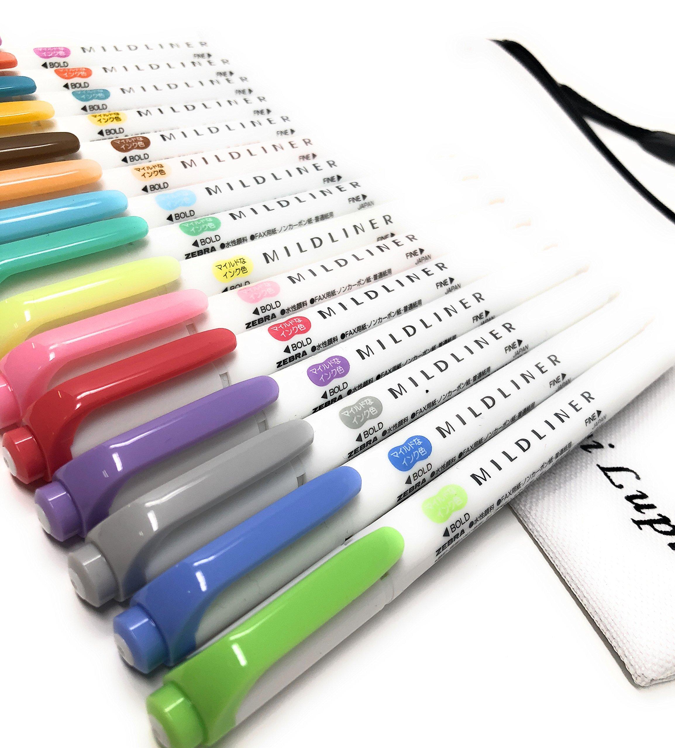 Zebra MILDLINER WKT7-5C (5-Color Set) / WKT7-5C-RC (5-Color Set) /WKT7-5C-NC (5-Color Set)3 pack With original pen case by Lupi Lupi (Image #3)