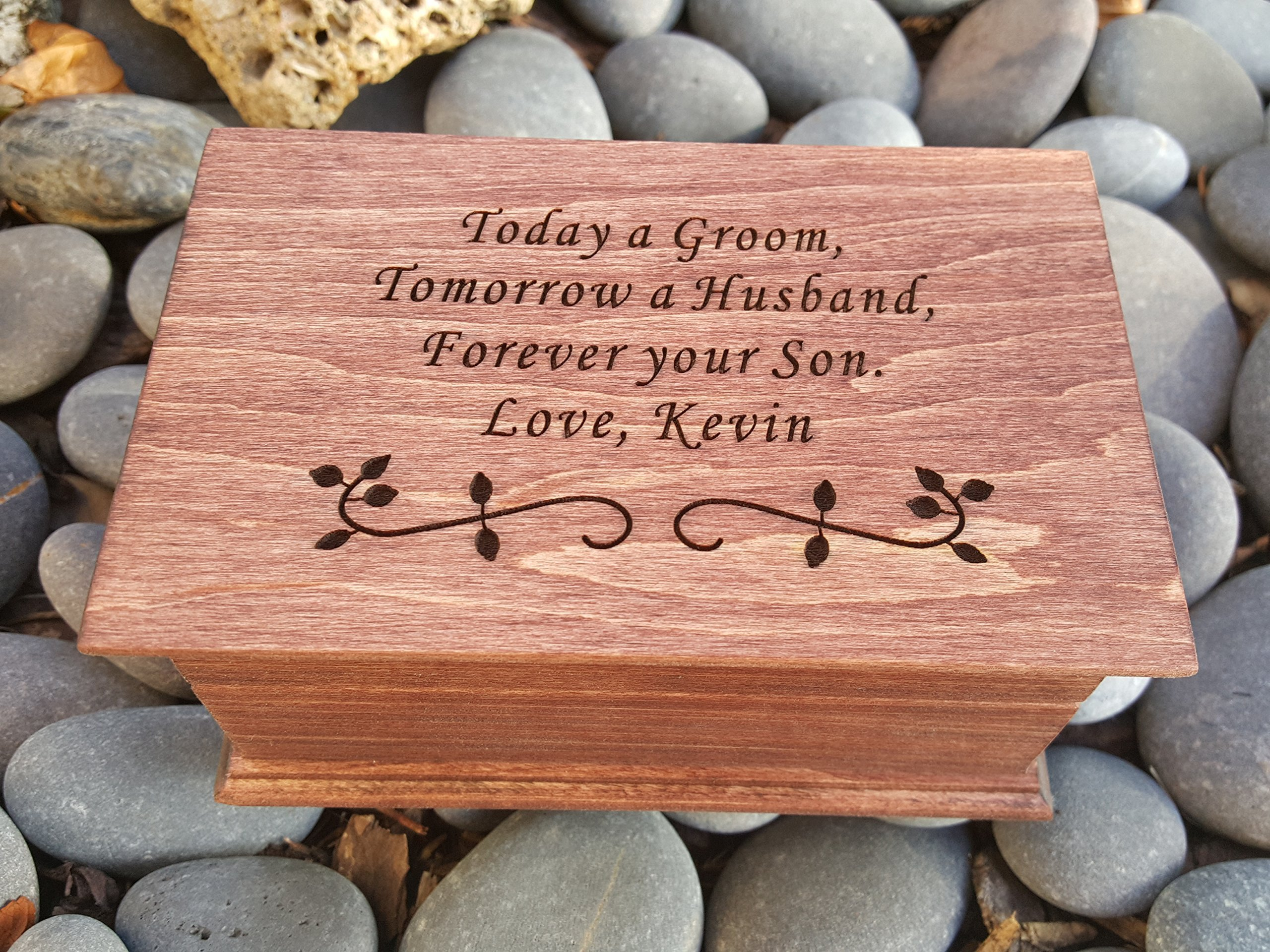 jewelry box, music box, custom made music box, handmade jewelry box, Today a Groom Tomorrow a Husband Forever your Son, wedding favor for mom, simplycoolgifts by Simplycoolgifts