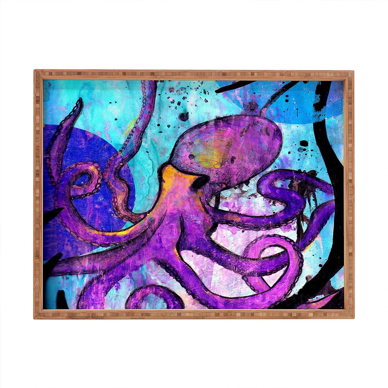 Deny Designs Sophia Buddenhagen Purple Octopus Indoor/Outdoor Rectangular Tray, 17 x 22.5 Deny Designs - LG 13446-trecxl