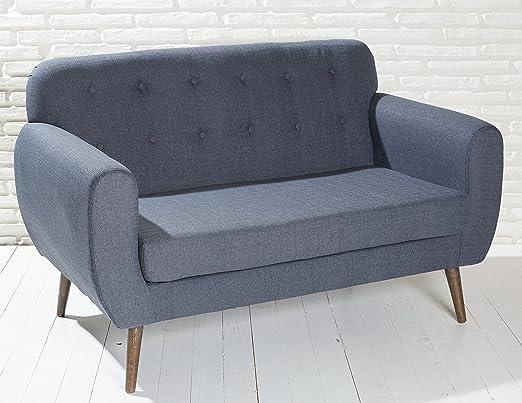 Green Spirit Acolchado sofá en Color Gris Oscuro con Patas ...
