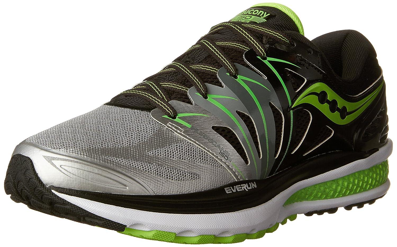 Saucony Men's Hurricane ISO 2 Running Shoe B018GVXVS2 9 2E US Black   Silver   Slime