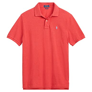 d71bbda55fe85 RALPH LAUREN Polo Men s Classic-Fit Short Sleeve Cotton Mesh Polo Shirt at  Amazon Men s Clothing store