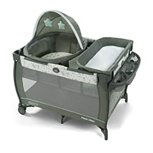 Graco Pack 'n Play Travel Dome Playard | Includes Travel Bassinet, Full-Size Infant Bassinet, and Diaper Changer, Oskar
