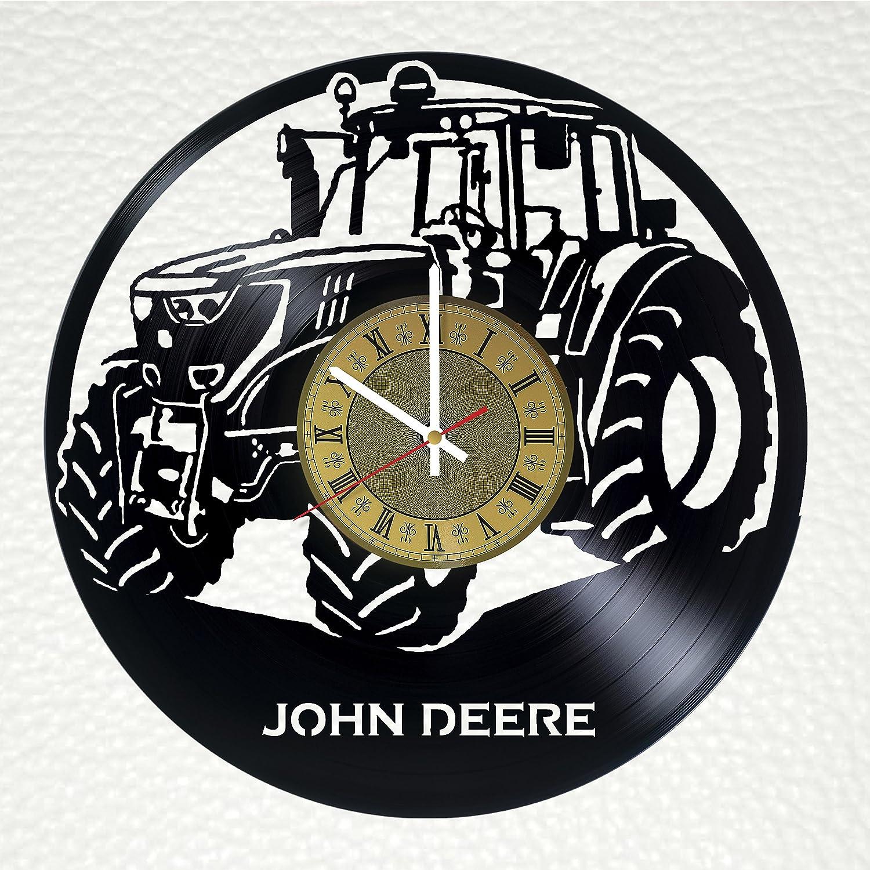 Tractor John Deere Vinyl Wall Clock