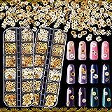 24 Grids 3D Flower Nail Art Stickers Sunflower Nail Decals Romantic Sunflower Daisy Flowers Designs Wood Pulp Chips Design Na